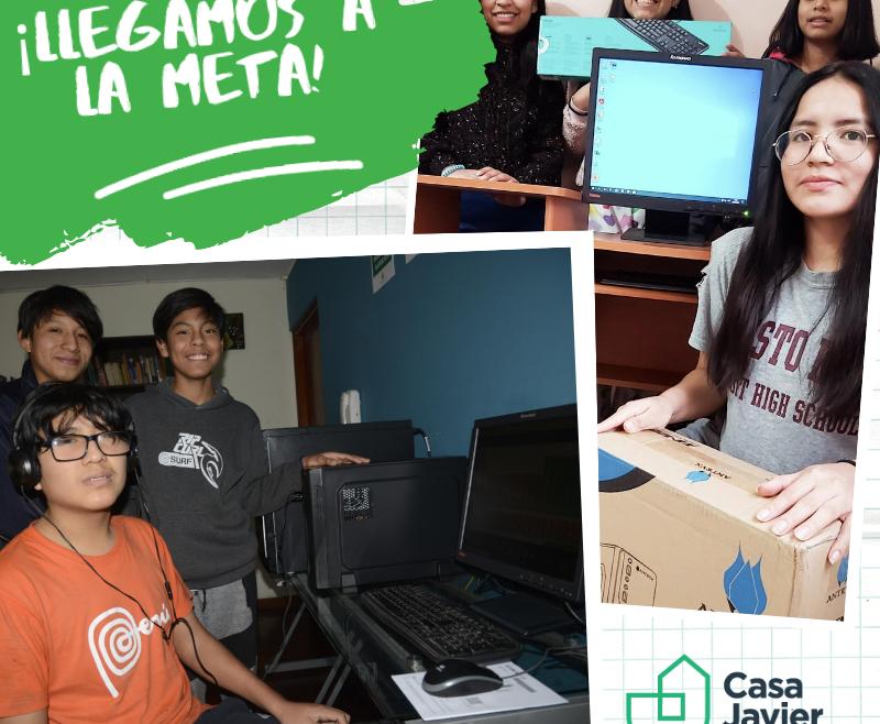 Gracias a la ayuda de todos, nuestros residentes cuentan con computadoras para estudiar desde casa